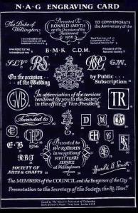 NAG Engraving List